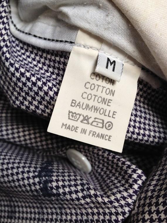 Maison Martin Margiela artisanal pied de poule printed trousers spring 2000 archive 451