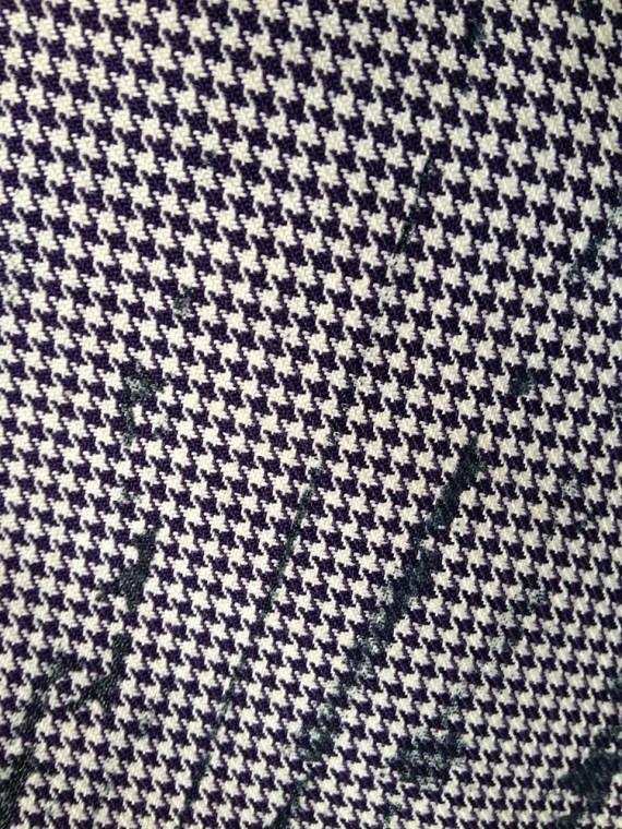 Maison Martin Margiela artisanal pied de poule printed trousers spring 2000 archive 458