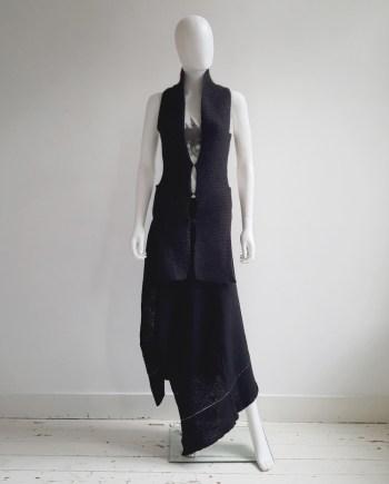 Maison Martin Margiela black scarf top 'Modèle Déposé' — fall 2004