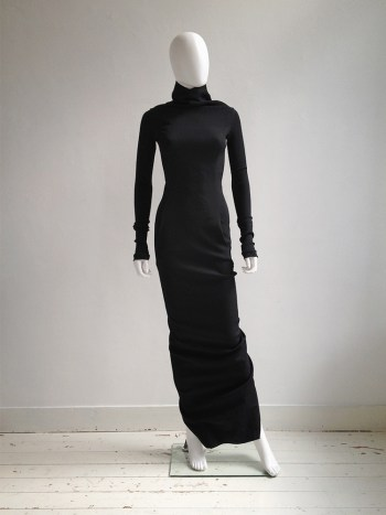 Rick Owens LIMO black bodycon maxi dress — fall 2011