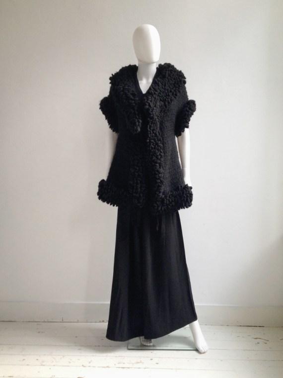 Yohji Yamamoto black 3D knitted cardigan 9542