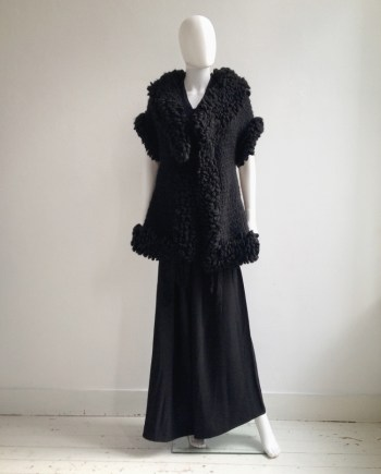 Yohji Yamamoto black 3D knitted cardigan