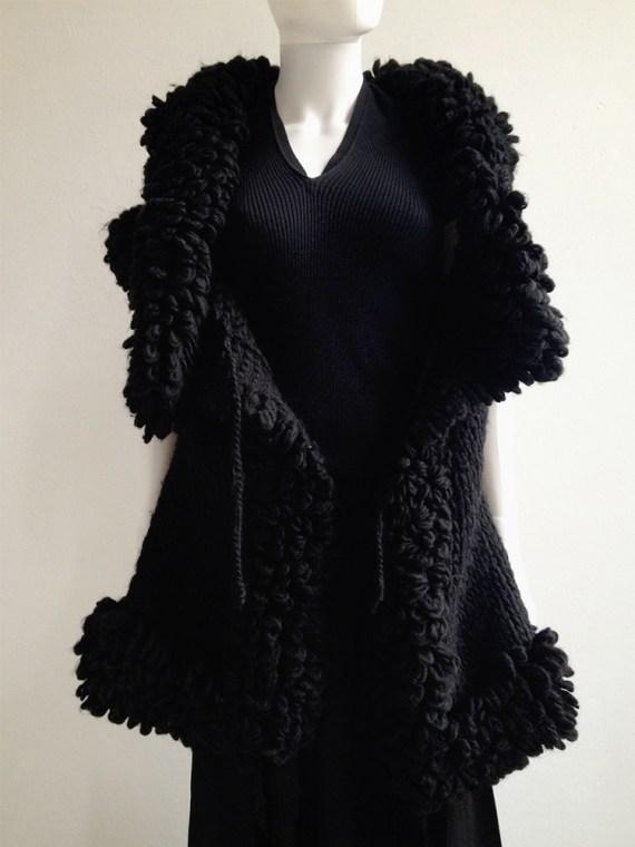 Yohji Yamamoto black 3D knitted cardigan 9584