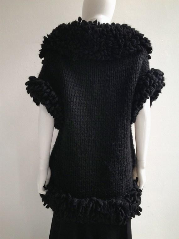 Yohji Yamamoto black 3D knitted cardigan 9617