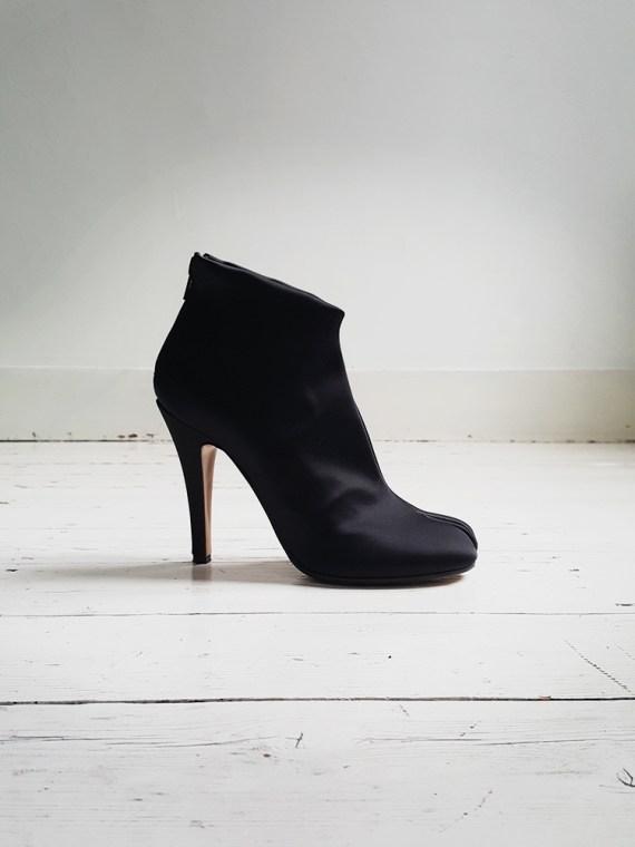 Maison Martin Margiela black satin tabi boots 2930