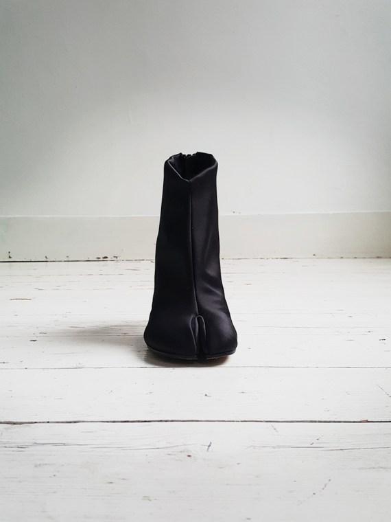 Maison Martin Margiela black satin tabi boots 2956