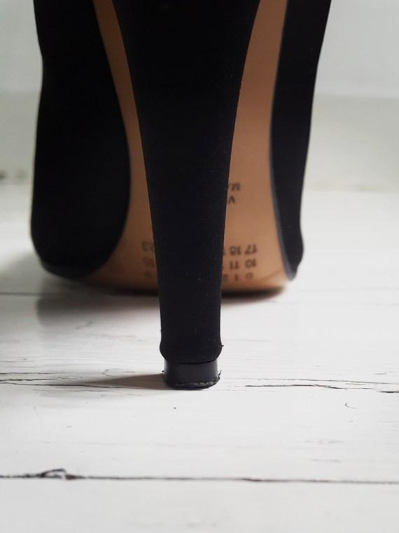 Maison Martin Margiela black satin tabi boots 3136