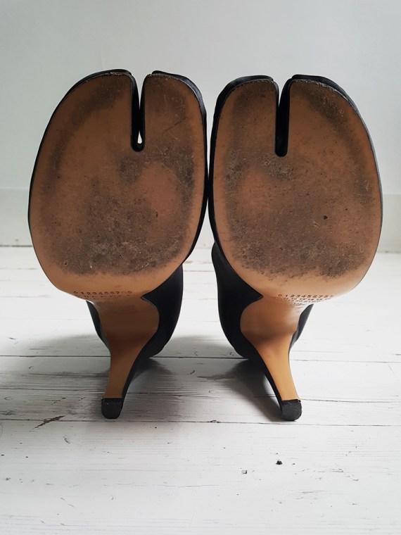 Maison Martin Margiela black satin tabi boots 3231