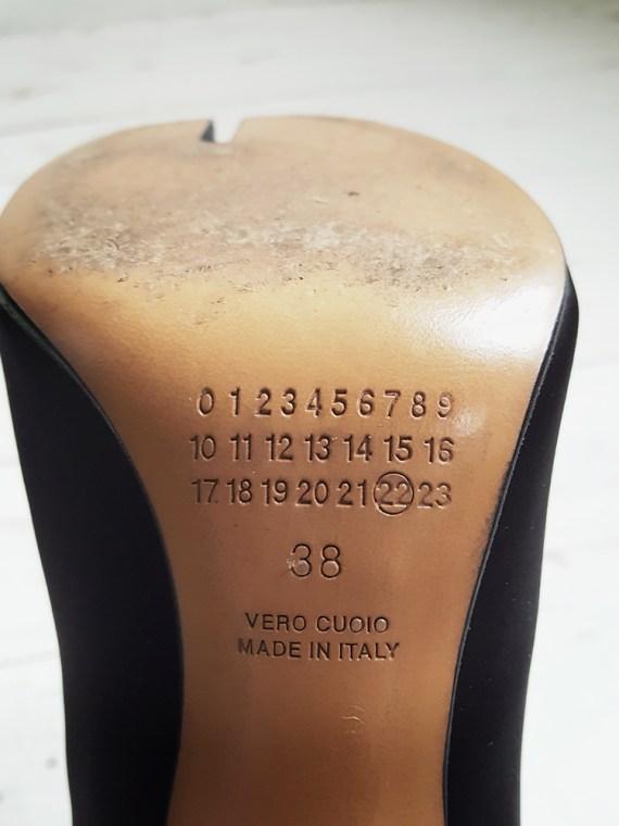 Maison Martin Margiela black satin tabi boots 3248