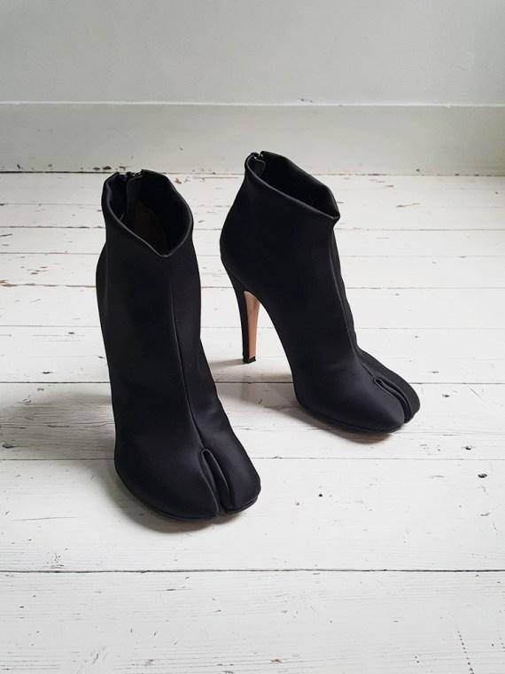 Maison Martin Margiela black satin tabi boots 3506