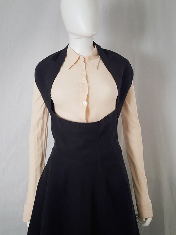 Comme Des garcons black halter dress 1987 archive piece 4436