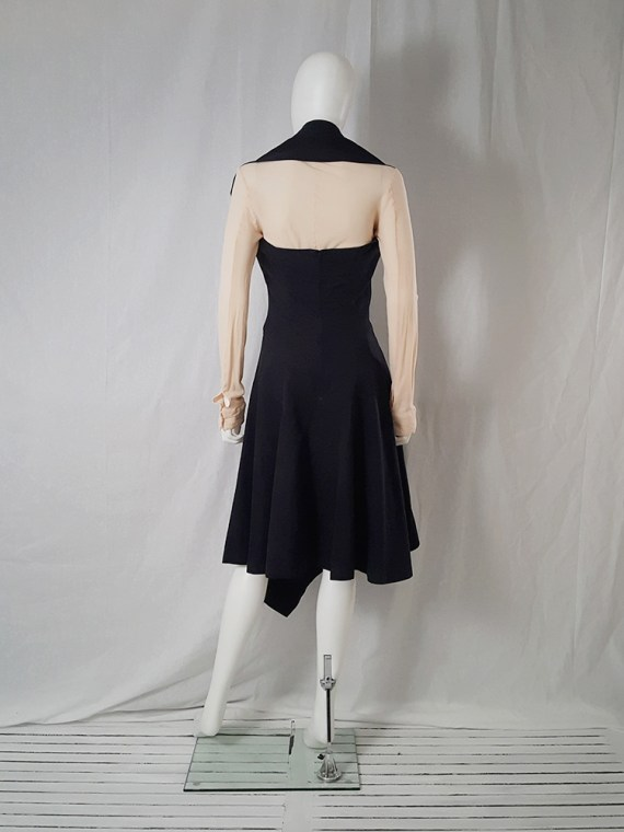 Comme des Garçons black halter dress — spring 1987