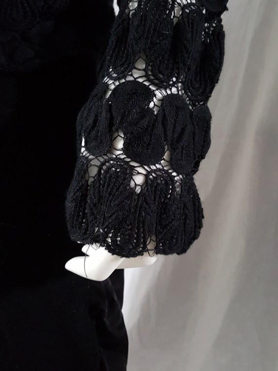 Dries Van Noten black curved knit jumper 131606