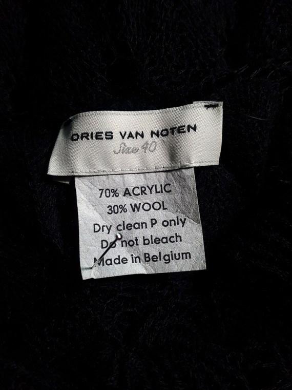 Dries Van Noten black curved knit jumper