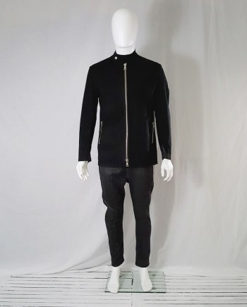 Maison Martin Margiela black zipper jacket
