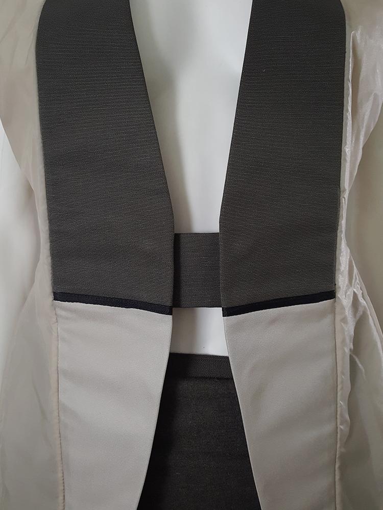 Rick Owens ISLAND beige geometrical jacket — spring 2003