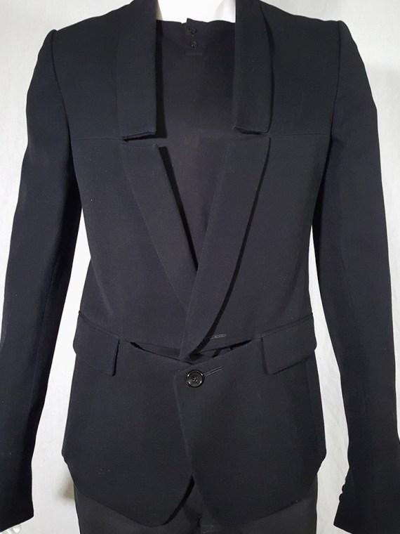 Ann Demeulemeester black blazer with cut panel runway fall 2011 _142546