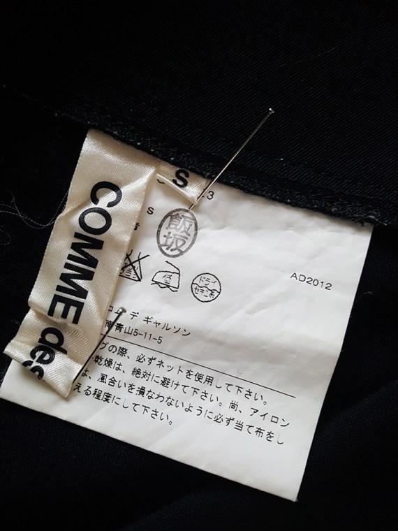 vintage Comme des Garçons black 2D paperdoll trousers — fall 2012