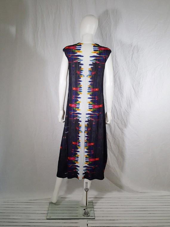 Issey Miyake printed pleated dress