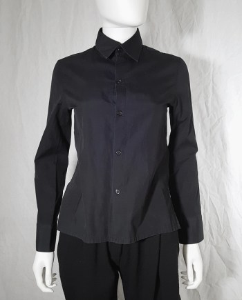 Yohji Yamamoto black open back shirt