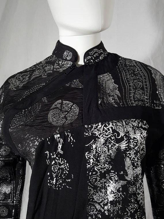 AF Vandevorst black dress with silver Chinese brocade runway spring 2016162735