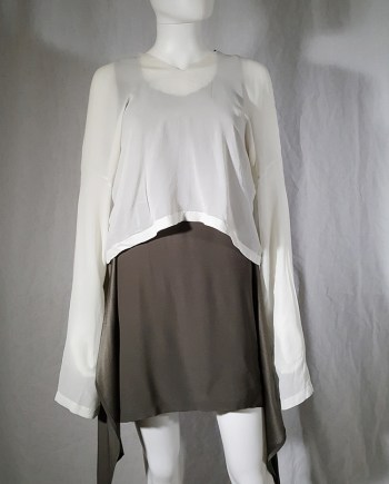 vintage Ann Demeulemeester white silk blouse with back fringes