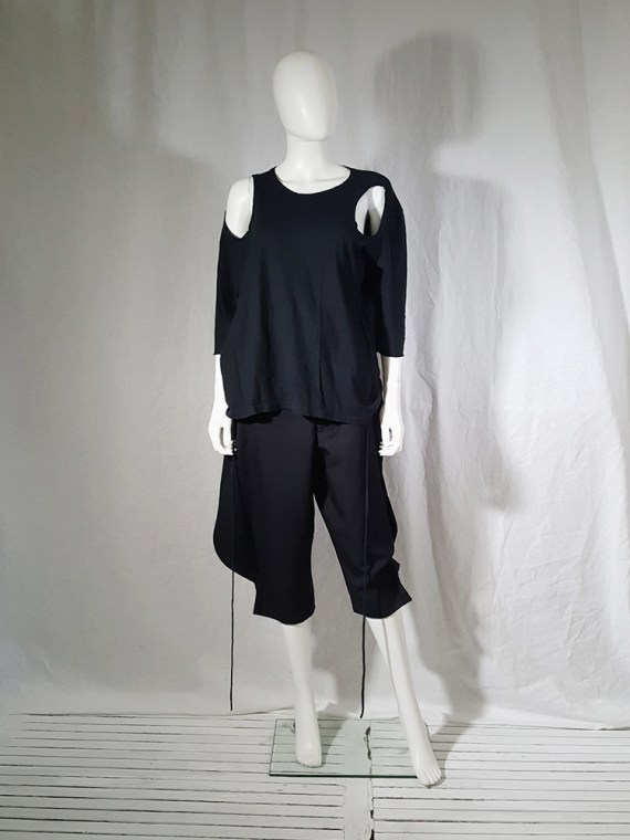 archive Ann Demeulemeester black jumper with extra armholes spring 1999 180040