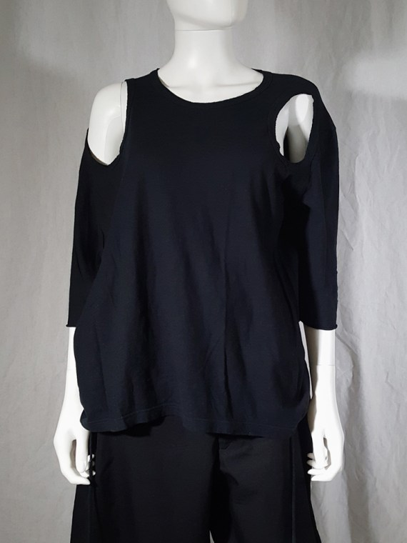 archive Ann Demeulemeester black jumper with extra armholes spring 1999 180051