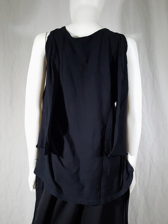 archive Ann Demeulemeester black jumper with extra armholes spring 1999 180318