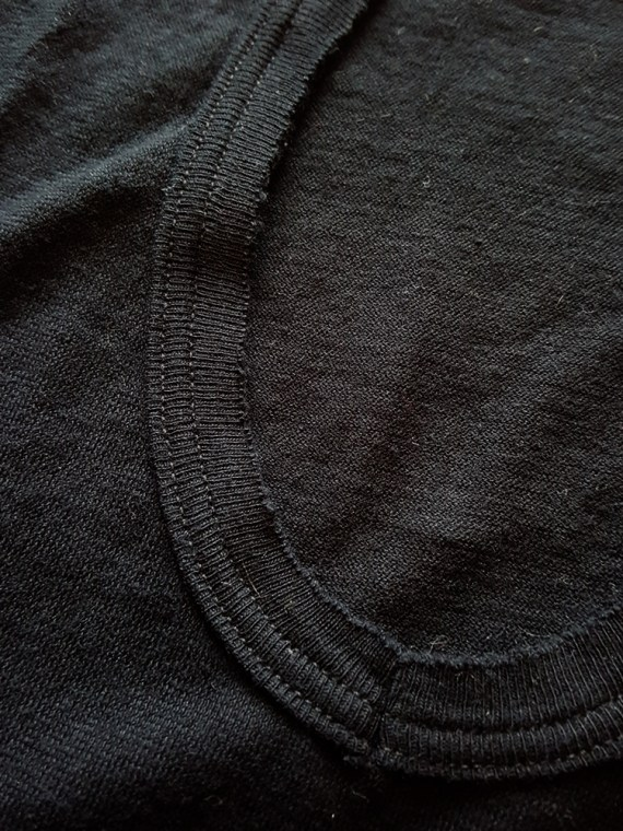 vintage Ann Demeulemeester black jumper with extra armholes spring 1999 141311