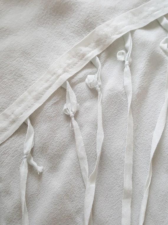 vintage Ann Demeulemeester white silk blouse with back fringes 140022(0)