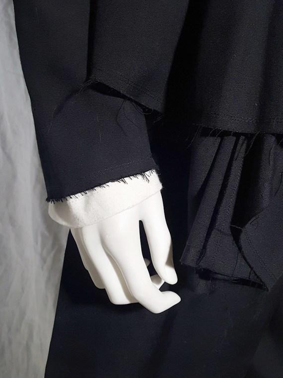 vintage Comme des Garçons black vest with double braids — spring 2003