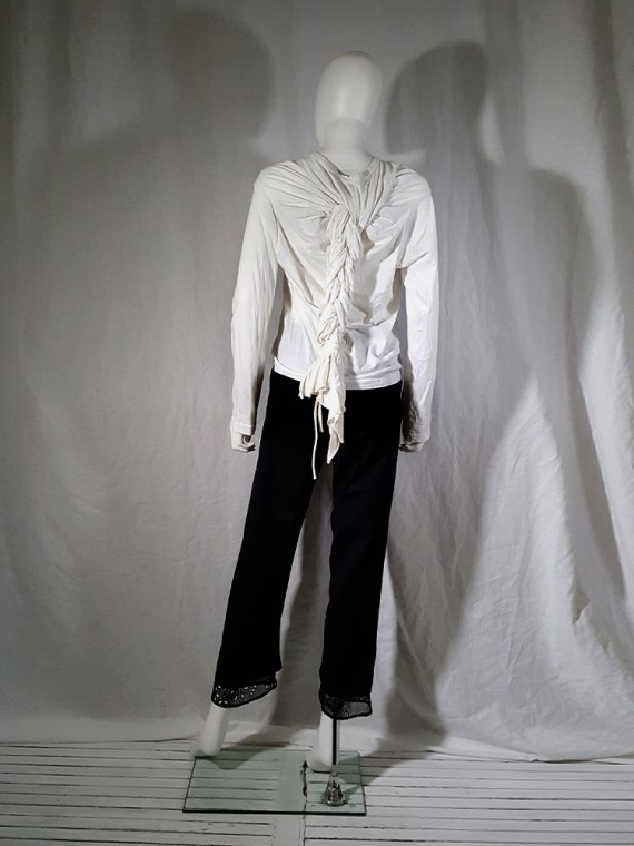 vintage Comme des Garcons white longsleeve with back braid spring 2003163307