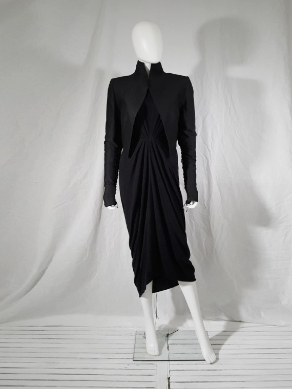 vintage Haider Ackermann black jacket with lace up back and sleeves runway fall 2008 155452