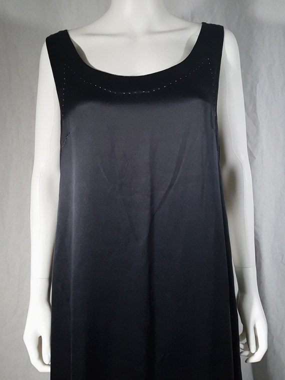 vintage Maison Martin Margiela dark blue dress with exposed stitching spring 2002 190833