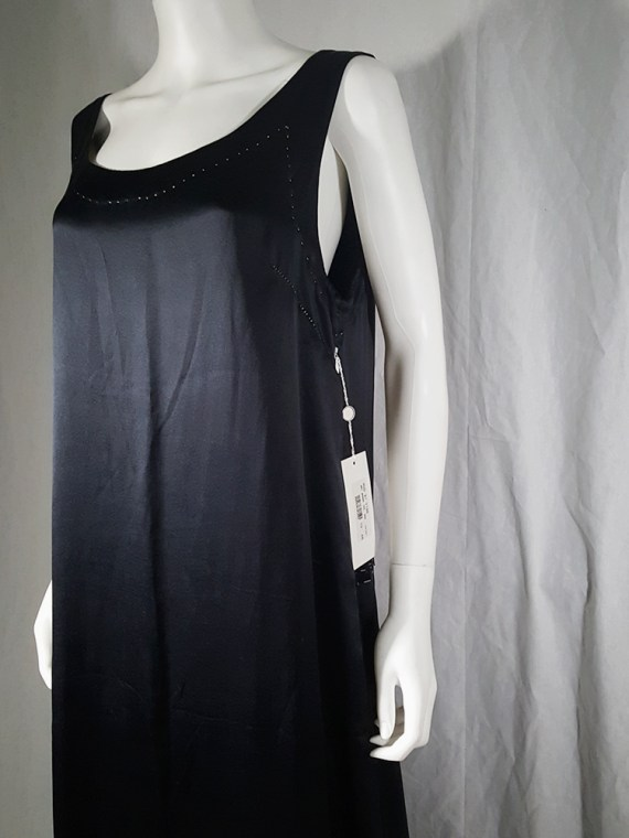 vintage Maison Martin Margiela dark blue dress with exposed stitching spring 2002 190901
