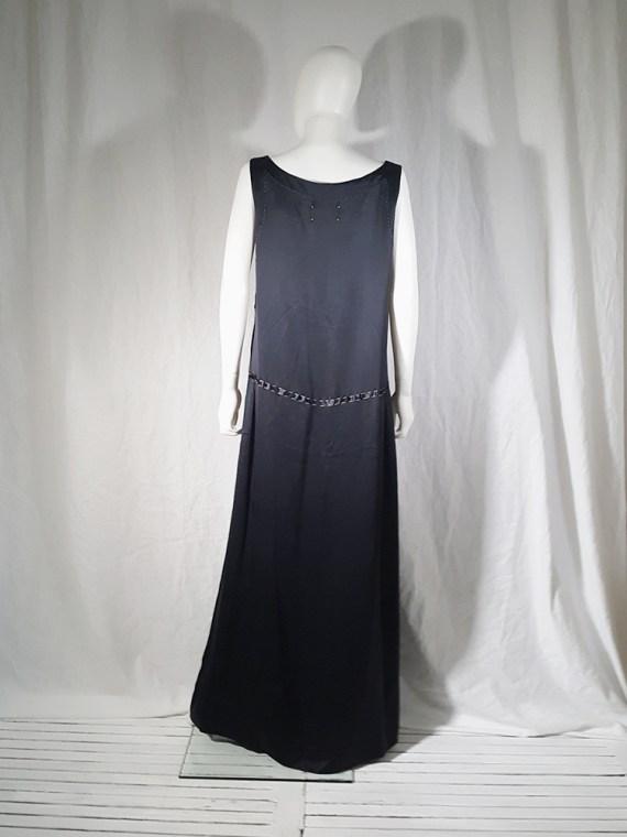 Maison Martin Margiela dark blue dress with exposed stitching — spring 2002