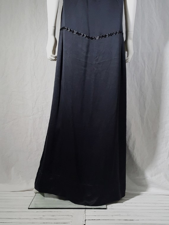 vintage Maison Martin Margiela dark blue dress with exposed stitching spring 2002 191346