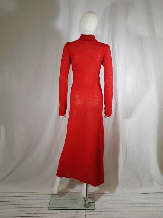 Ann Demeulemeester red knit maxi dress fall 1996 151919