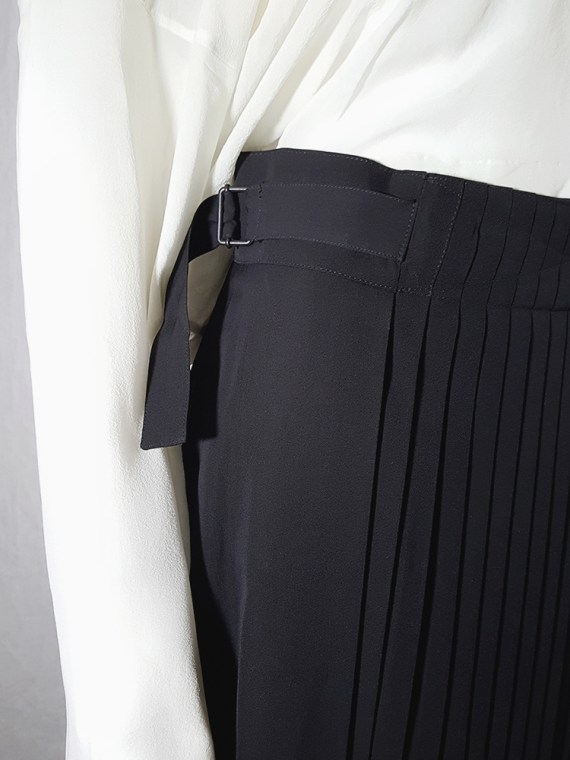 archive Dries Van Noten black front pleated skirt early 90s 162624