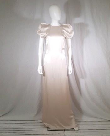 vintage Maison Martin Margiela blush circle sleeves dress — spring 2002