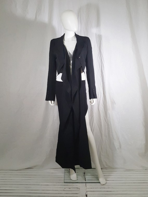 vintage Ann Demeulemeester black draped shawl jacket fall 2006 131421(0)