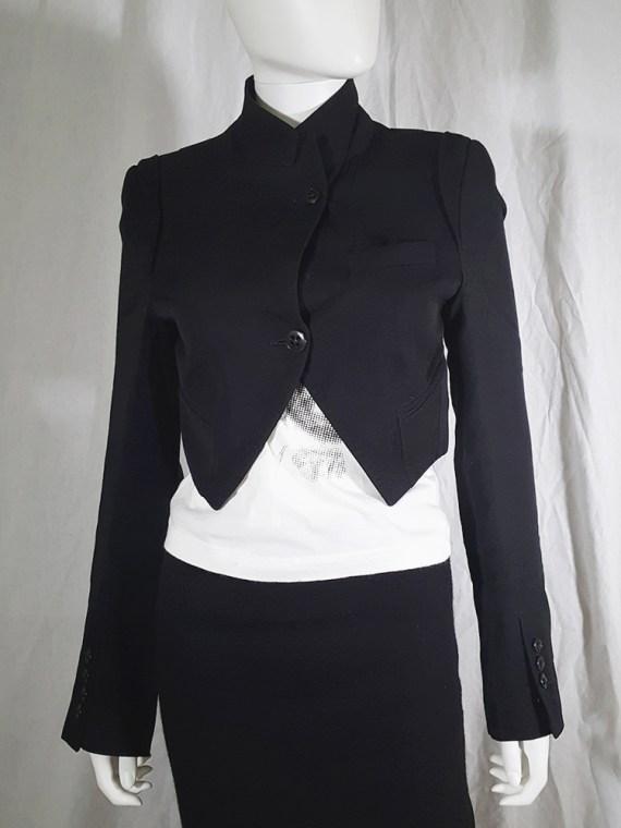 vintage Ann Demeulemeester black draped shawl jacket fall 2006 131859