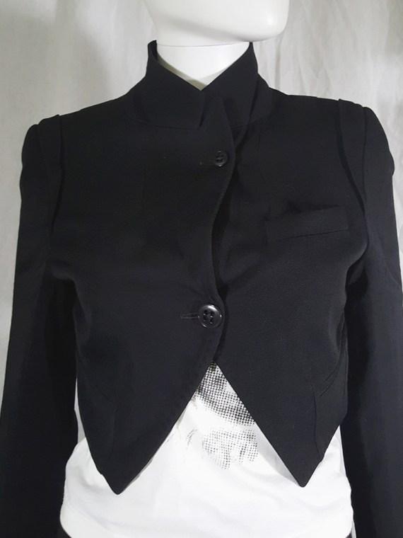 vintage Ann Demeulemeester black draped shawl jacket fall 2006 131931
