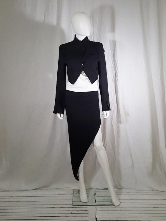 vintage Ann Demeulemeester black draped shawl jacket fall 2006 131947