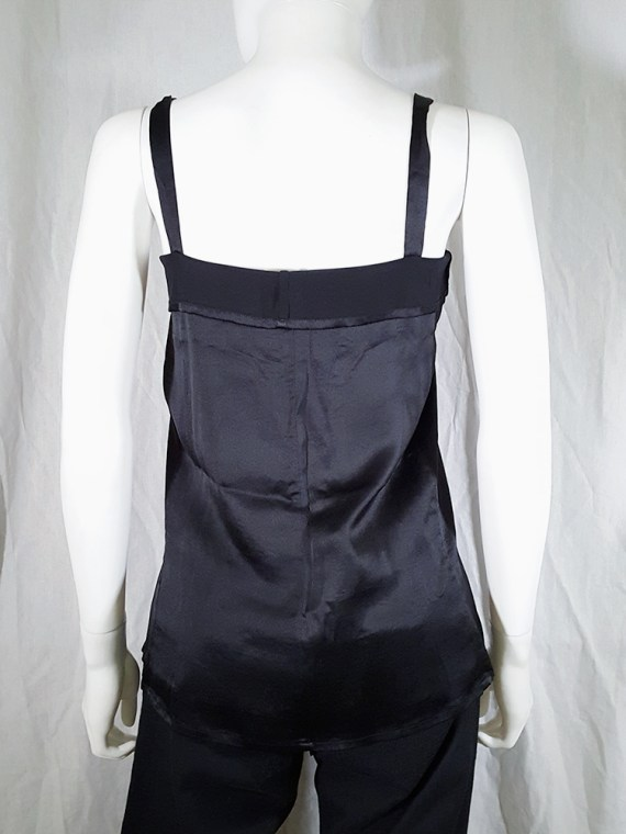 vintage Ann Demeulemeester black tie-front draped top spring 2002 143106