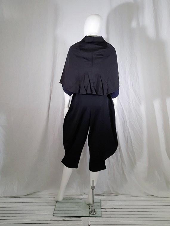 vintage Comme des Garcons black short cape spring 2010 140212