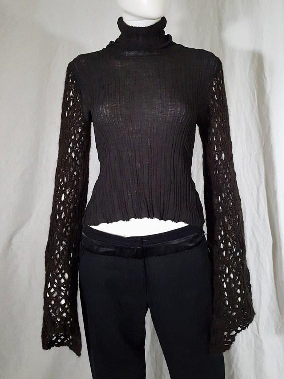 Dries Van Noten black wide sleeved jumper