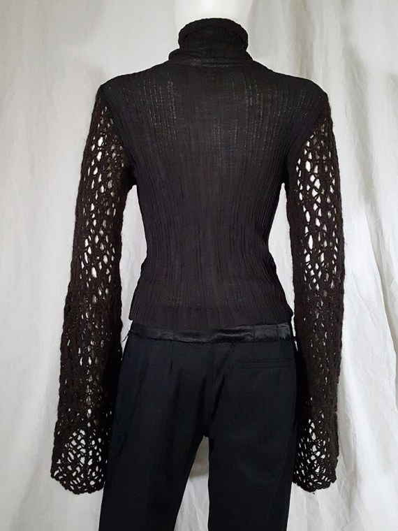vintage Dries Van Noten black wide sleeved jumper 143420