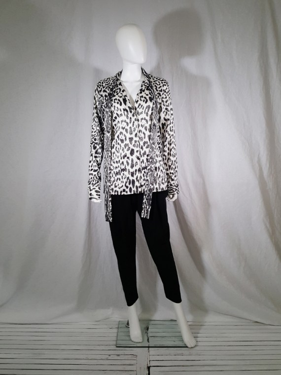 vintage Haider Ackermann leopard blouse with bowtie fall 2015 153108